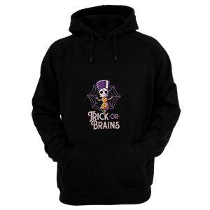 Trick Or Brains Funny Cute Spooky Hoodie