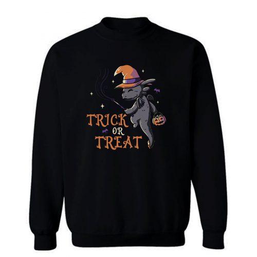 Trick Or Treat Funny Cute Spooky Sweatshirt