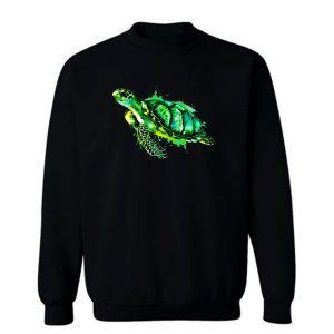 Watercolor Sea Turtle Green Sea Turtle Sweatshirt