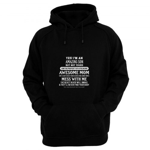 Amazing Son Property Of Mom Hoodie