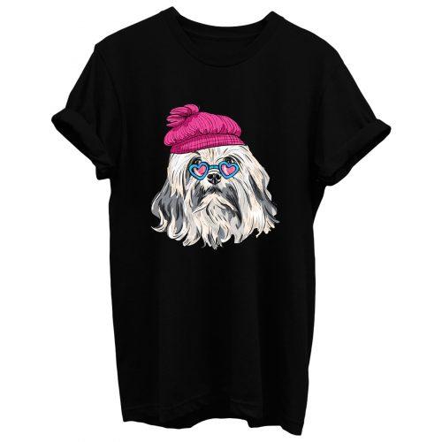 Beautiful Hipster Lowchen Dog T Shirt