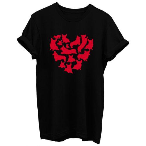 Corgi Heart Valentines Day T Shirt