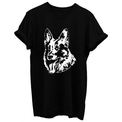 German Shepherd Dog Head Profile T Shirt