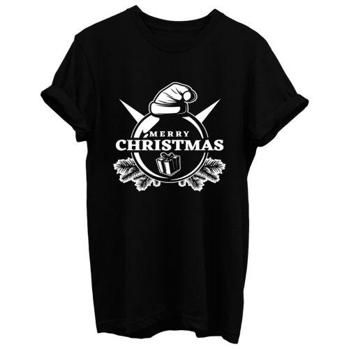 Merry Christmas Box In Ball T Shirt