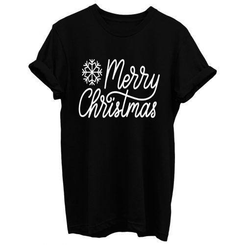 Merry Christmas Snow T Shirt
