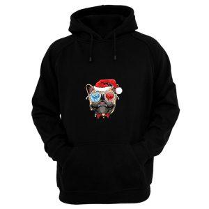 Pug Puppy Dog santa Claus Christmas Hoodie