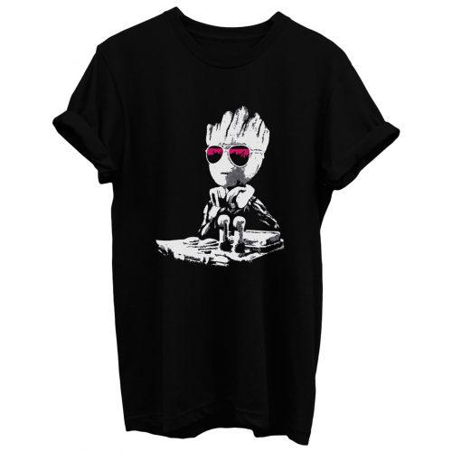 Baby Groot Dj T Shirt
