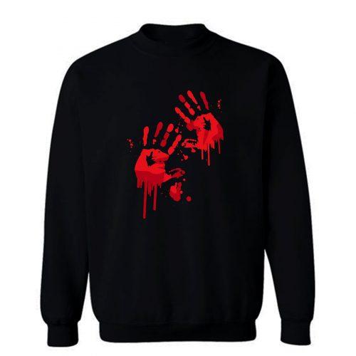 Bloody Handprints Sweatshirt