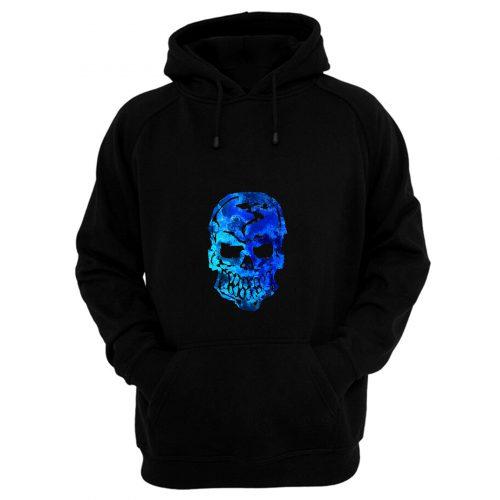 Blue Ocean Human Skull Hoodie