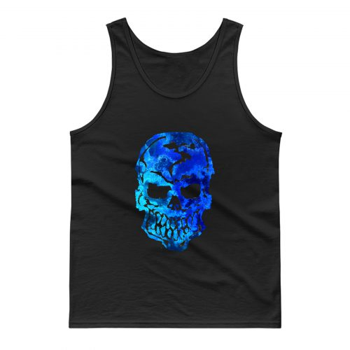 Blue Ocean Human Skull Tank Top