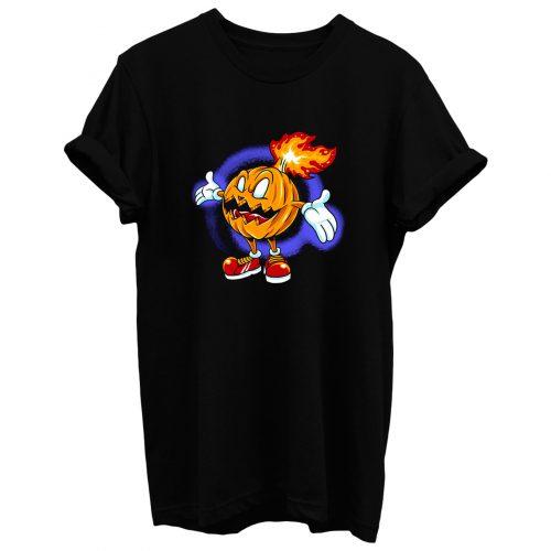 Burning Pumpkin T Shirt