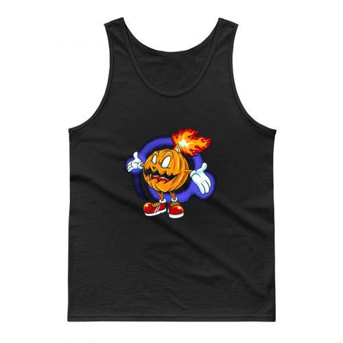 Burning Pumpkin Tank Top