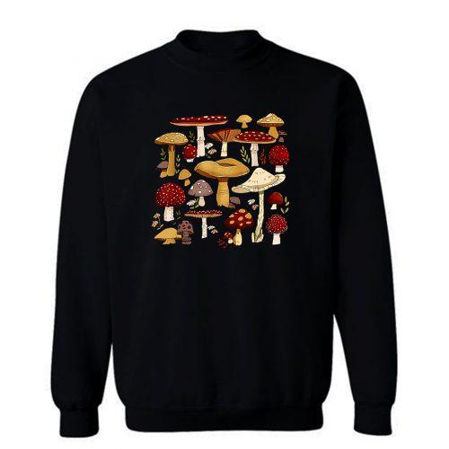 Cottagecore Aesthetic Goblincore Mycology Shrooms Mushroom Sweatshirt