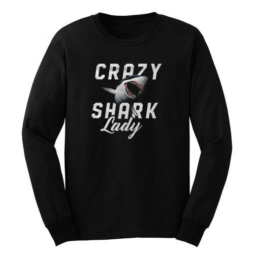 Crazy Shark Lady Long Sleeve