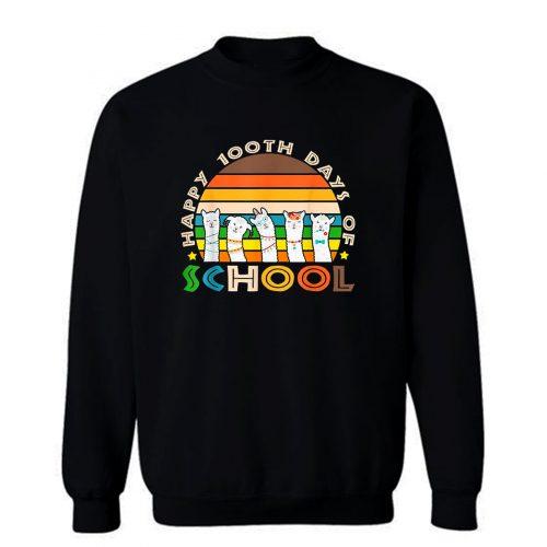 Cute Llama Happy 100th Days Of School Sweatshirt