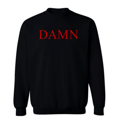 Damn Kendrick Lamar Red Sweatshirt
