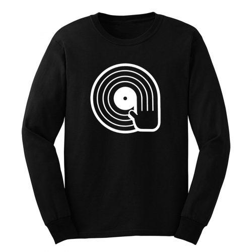 Dope Dj Spinning Vinyl Record Long Sleeve