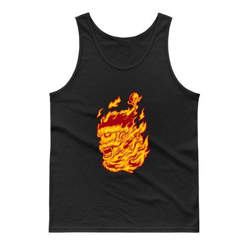 Flame Of Santa Tank Top