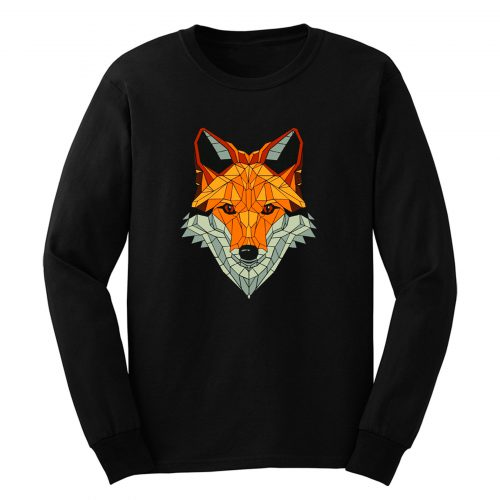 Fox Polygon Red Fox Sweet Forest Long Sleeve