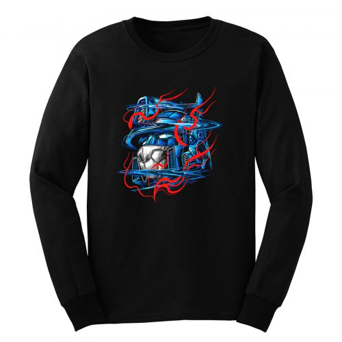 Glitchy Flames Long Sleeve