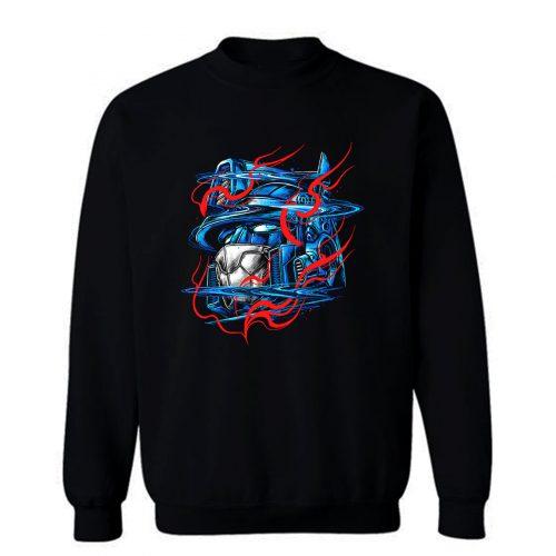 Glitchy Flames Sweatshirt