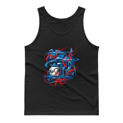 Glitchy Flames Tank Top