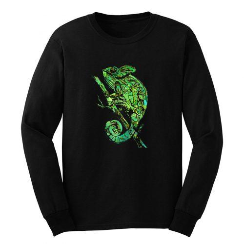 Green Chameleon Long Sleeve