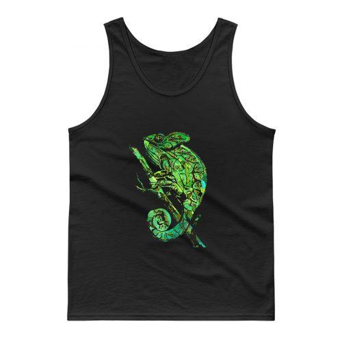 Green Chameleon Tank Top