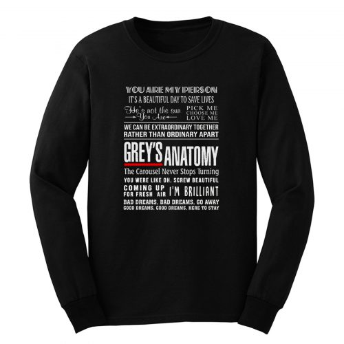 Greys Anatomy Youre My Person Long Sleeve
