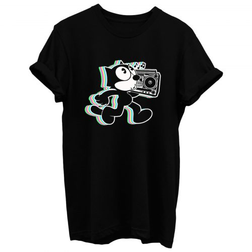 Hip Hop Felix Black T Shirt