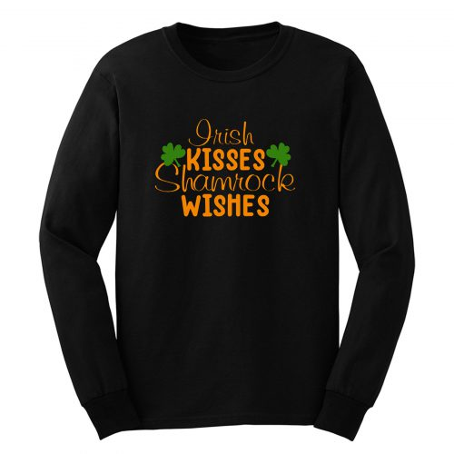 Irish Kisses Shamrock Kisses Shirtst Patricks Day Long Sleeve
