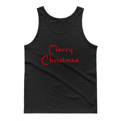 Merry Christmas Typhograph Tank Top