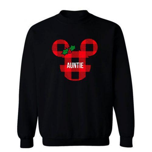 Mickey Minnie Mouse Mistle Toe Ribbon Auntie Cute Sweatshirt