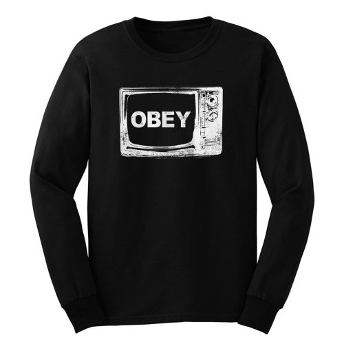 Obey Tv Television Long Sleeve