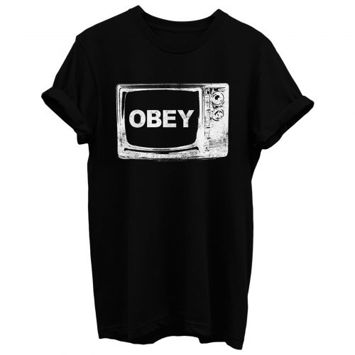 Obey Tv Television T Shirt