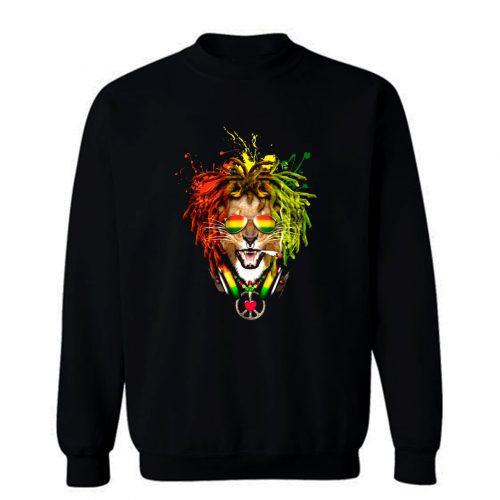 One Love Rasta Lion Sweatshirt