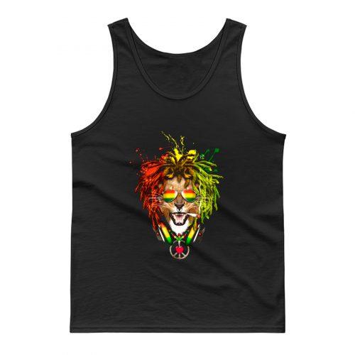 One Love Rasta Lion Tank Top