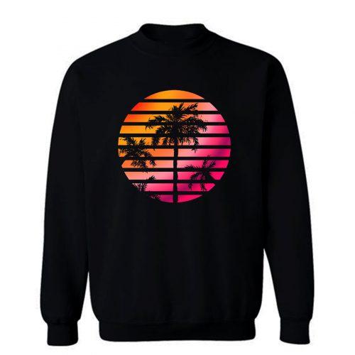 Palm Trees Sunset Sweatshirt