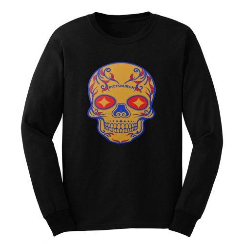Pittsburgh Steelers Skull Long Sleeve