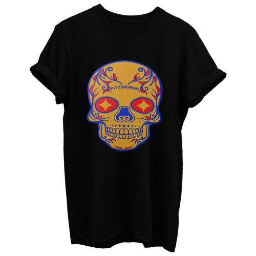 Pittsburgh Steelers Skull T Shirt