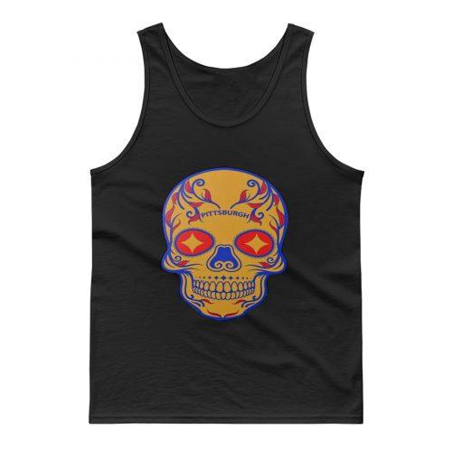 Pittsburgh Steelers Skull Tank Top