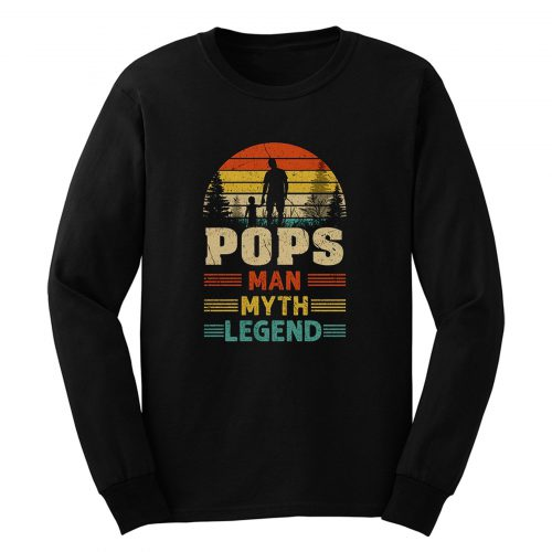 Pops Sunset Man Myth Legend Mens Long Sleeve