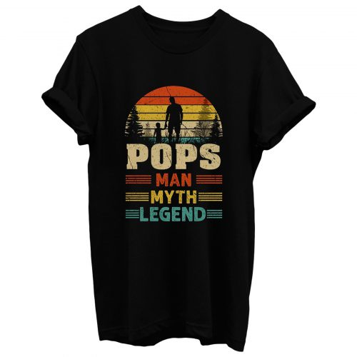 Pops Sunset Man Myth Legend Mens T Shirt
