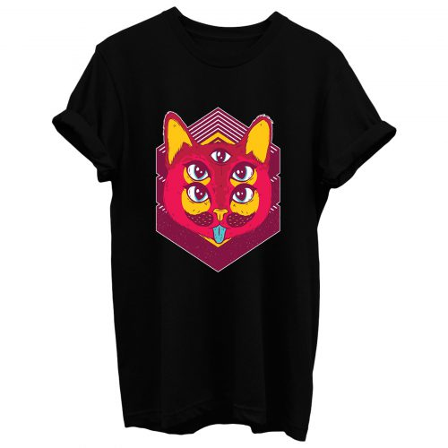 Psychedelic Cat T Shirt