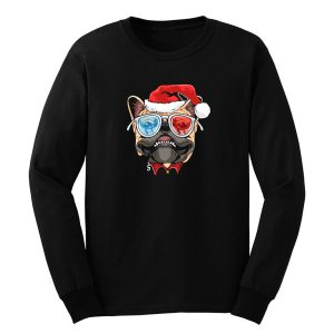Pug Puppy Dog santa Claus Christmas Long Sleeve