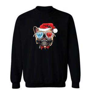 Pug Puppy Dog santa Claus Christmas Sweatshirt