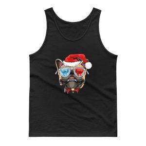 Pug Puppy Dog santa Claus Christmas Tank Top