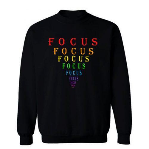 Rainbow Focus Motivation Eye Chart Sweatshirt