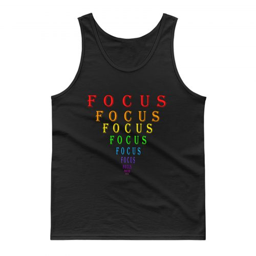 Rainbow Focus Motivation Eye Chart Tank Top