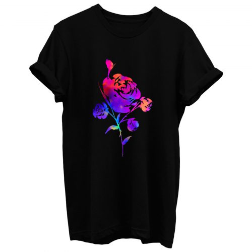 Rainbow Rose Art T Shirt